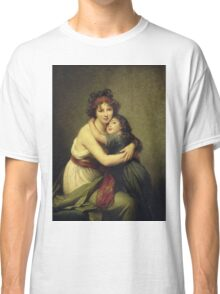 Elisabeth Louise Vigee-Lebrun -Madame Vigee-Lebrun And Her Daughter Classic T-Shirt