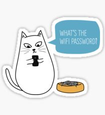 Wifi Cat Sticker