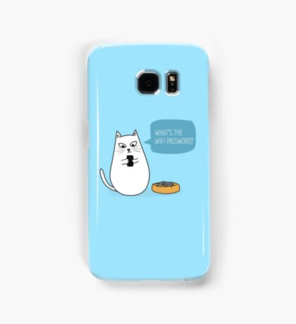 Wifi Cat Samsung Galaxy Case/Skin