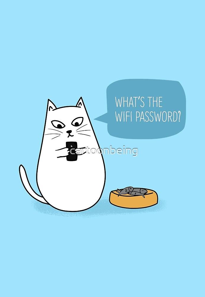 Wifi Cat by cartoonbeing