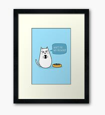 Wifi Cat Framed Print