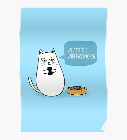 Wifi Cat Poster