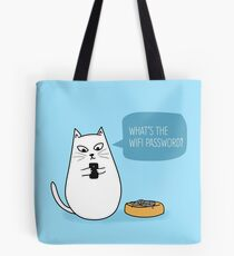 Wifi Cat Tote Bag
