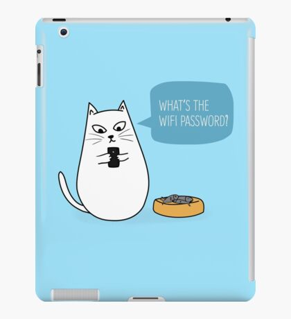 Wifi Cat iPad Case/Skin