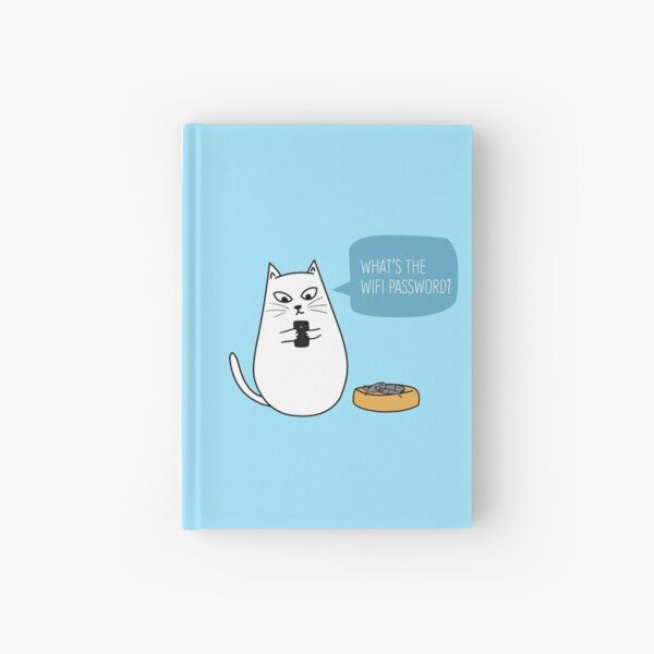 Wifi Cat Hardcover Journal