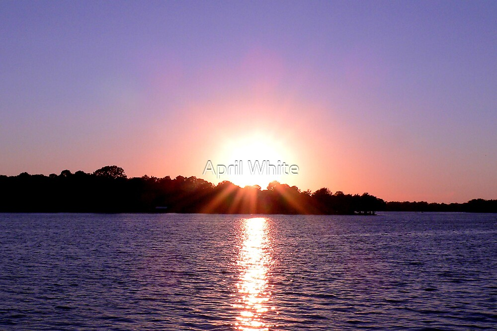 Sunset Over a TN Lake by April White