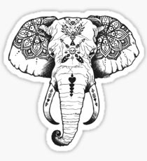 Elephant Tattooed Sticker