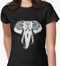 Elephant Tattooed Women's Fitted T-Shirt