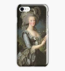 Elisabeth Louise Vigee - Lebrun - Marie Antoinette (1755 ) With A Rose iPhone Case/Skin