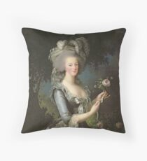 Elisabeth Louise Vigee - Lebrun - Marie Antoinette (1755 ) With A Rose Throw Pillow