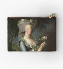 Elisabeth Louise Vigee - Lebrun - Marie Antoinette (1755 ) With A Rose Studio Pouch