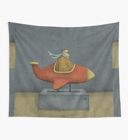 Road to Nowhere - Triptych Panel No. 3 Wall Tapestry