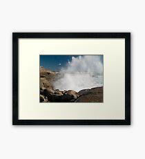 Peggys Cove Crashing Waves Framed Print