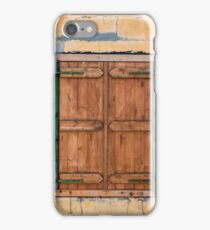 Old Painted Wooden Window Shutter Painted Wall iPhone Case/Skin