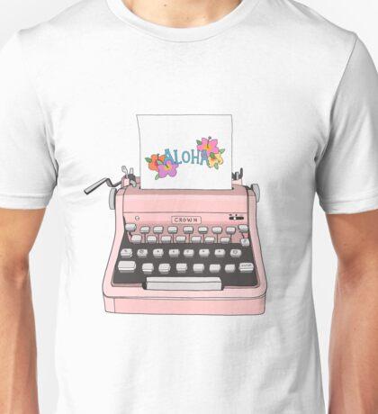Pink Aloha Typewriter T-shirt