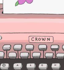 Aloha Typewriter Sticker