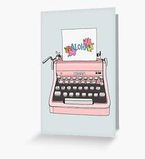 Aloha Typewriter Greeting Card