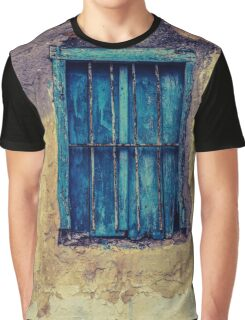 Grunge Window Frame Old Paint Stone Graphic T-Shirt