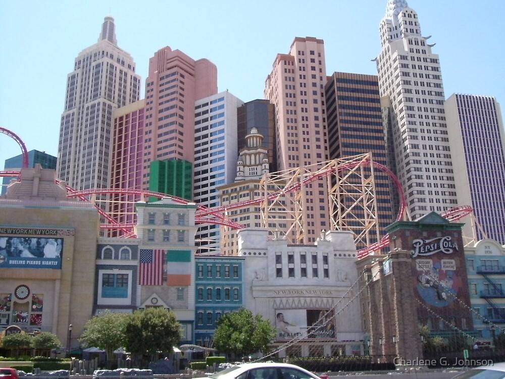 New York New York Hotel - Las Vegas, Nevada by Charlene G. Johnson