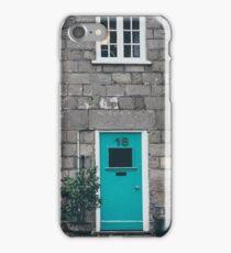 Old Street Painted House Doors Stone Buildings iPhone Case/Skin