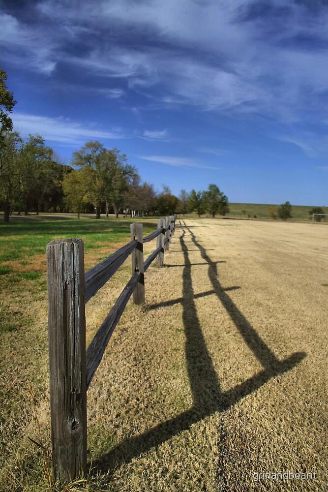 Fence Shadows by grinandbearit