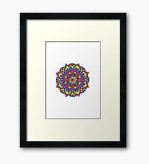 Primary Mandala Framed Print