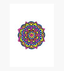 Primary Mandala Photographic Print