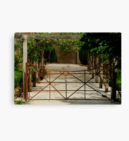 Villa Gate Canvas Print