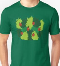 Fresh Green Leaves And Ladybugs In Spring Unisex T-Shirt