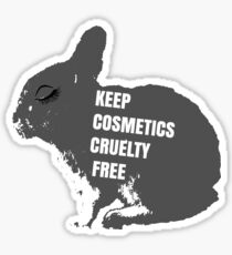 Cruelty Free Bunny Sticker