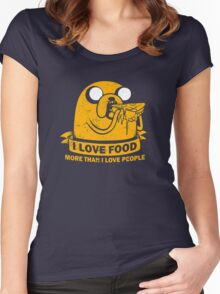 Food I love the Most funny Women's Fitted Scoop T-Shirt