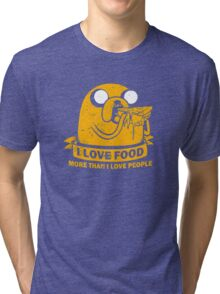 Food I love the Most funny Tri-blend T-Shirt