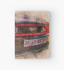 Watercolor Black Mustang Hardcover Journal