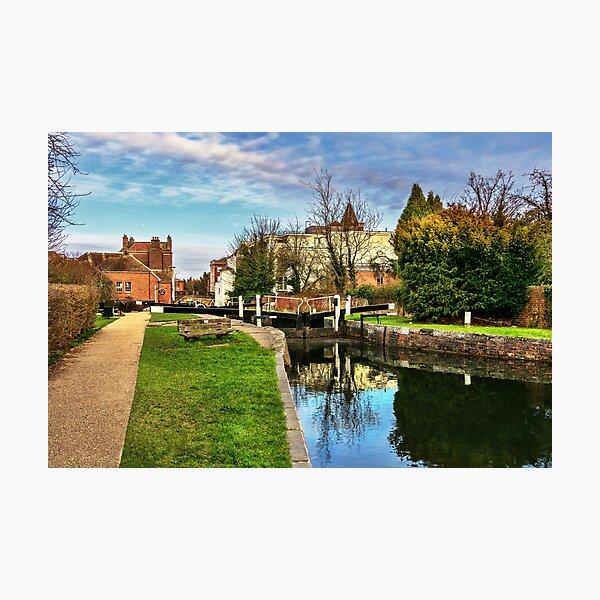 Stadtschloss Newbury auf dem Kennet und Avon Fotodruck