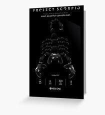 Xbox Project Scorpio Logo Greeting Card