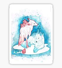Loups de cristal Sticker