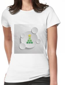 Abstract winter design Womens Fitted T-Shirt