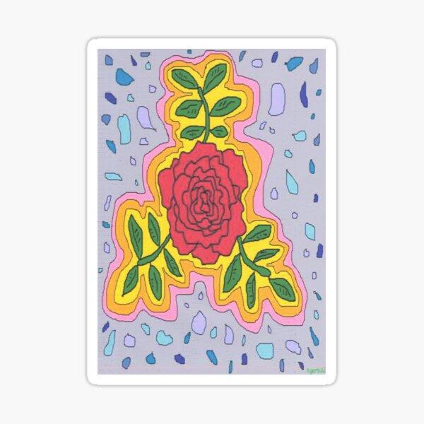 1706 - Mystique Rose In Open Mode Sticker