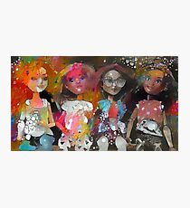Dolls on a Bench Photographic Print