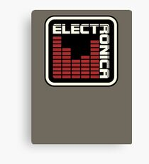 Electronica Red Meter Canvas Print