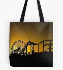The rides at sunset Tote Bag