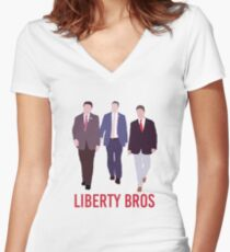 Squad Goals: Thomas Massie, Justin Amash, & Rand Paul Women's Fitted V-Neck T-Shirt