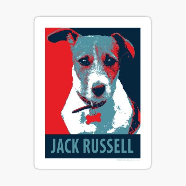 Jack Russell Terrier Dog Pop Art Political Propaganda Poster Sticker