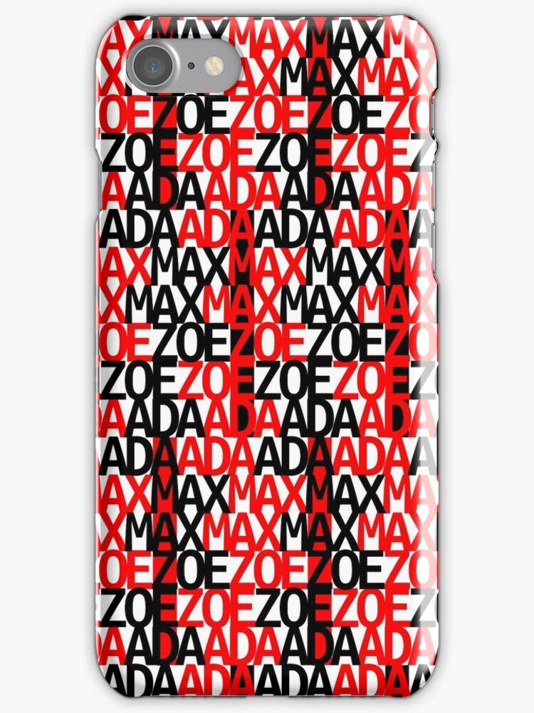Max Ada Zoe tessellation (Amazed) by black-ink