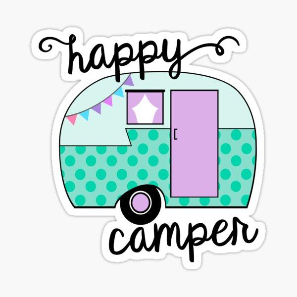 Campista feliz Pegatina