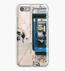 Grunge Phone Booth City Photo iPhone Case/Skin