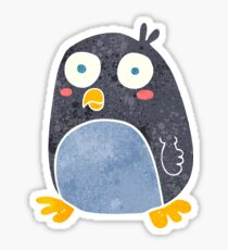 retro cartoon penguin Sticker