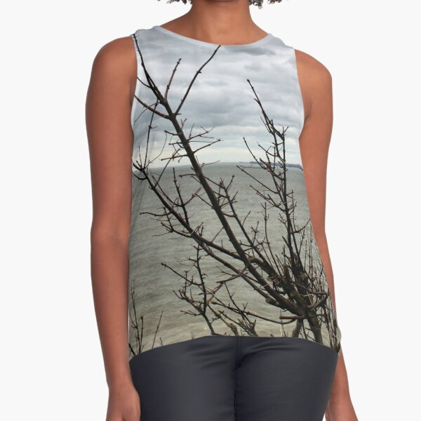 Stormy skies over the bay Sleeveless Top