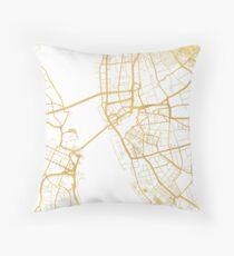 LIVERPOOL ENGLAND CITY STREET MAP ART Throw Pillow