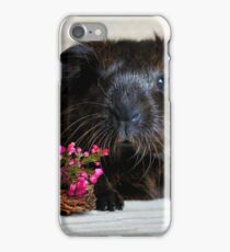Adorable Guinea Pig With Flowers iPhone Case/Skin